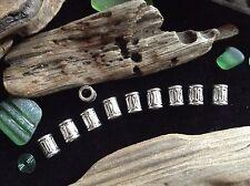 Bracelet Beads 10x Silver 4 mm Hole Elvish Weave Viking Celtic Beard Braid Beads