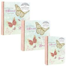 "Home Collection Butterflies Pink & Light Green Slip In Photo Album 4x6"" or 5x7"""