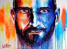 C. Fanta-Apple Steve Jobs Original Image Pièce unique art tableau XL Abstrait Neuf