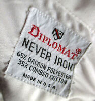 MEDIUM TRUE VTG 70s DIPLOMAT WHITE POINT COLLAR ULTRA THIN DRESS SHIRT