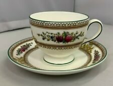 UNUSED Wedgwood Columbia Pattern no.W595 English Bone China Tea Cup & Saucer