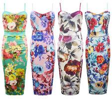Plus Size Floral Stretch, Bodycon Dresses for Women