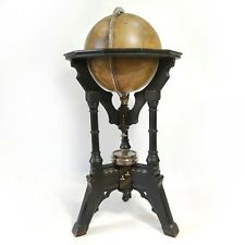 """Rare Antique A.H. Andrews & Co 12"""" Library Floor Terrestrial Globe w/ Compass"""