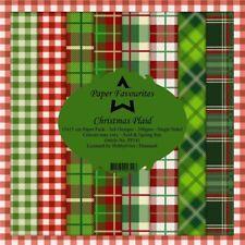 New Dixi Craft  Paper Favourites 15 x 15cm Christmas Plaid