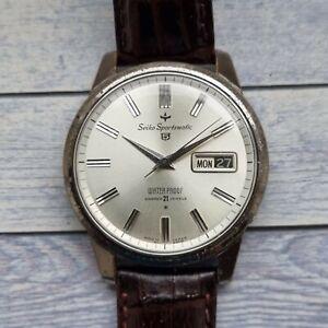 Vintage Seko 5 Sportsmatic Men's Watch for Spares Or Repair