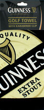 GOLF GIFT GUINNESS OFFICIAL MERCHANDISE TRI FOLD TOWEL WITH KARABINER - OPEN TEE