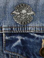 More details for avenged sevenfold badge deathbat enamel pin grey a7x