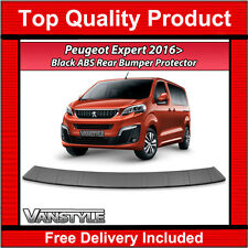PEUGEOT EXPERT & TRAVELLER 2016> REAR BUMPER PROTECTOR ABS BLACK PROTECTION
