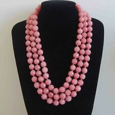 8mm-10mm Faceted Pink Morganite Gemstone Bead Necklace 18-48''