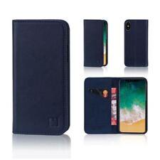 Fundas y carcasas Para iPhone X color principal azul de piel para teléfonos móviles y PDAs