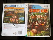 Donkey Kong Country Returns (Nintendo Wii & Wii U) PAL VGC - MINT DISC