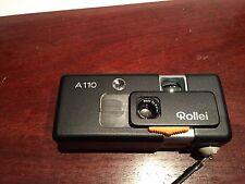 Rollei  A110 Film Camera + Tessar F23mm 2.8 Lens