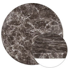 """30"""" Round Gray Marble Laminate Table Top - Restaurant & Hospitality Table Tops"""