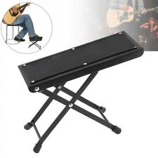 Classical Guitar Foot Stool Height Adjustable Guitar Foot Rest Footstool Black