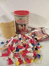 Vintage 371 Piece No. 725 American Plastic Bricks, Halsam Products w/ Brochure