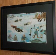 Taking Snow to Town by Franjo Mraz, 20''x16'' frame, village snow scene print