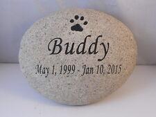Engraved Paw Print Pet Memorial, Medium