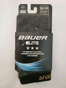 Bauer Elite Skate Hockey Socks Gray Size M/M 5 - 7 SR Performance Sock