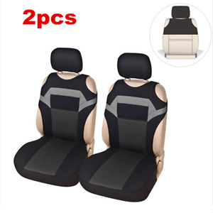 2pcs Washable Universal Car Polyester Front Seat Cover For Interior Accessories