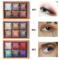 6 Colors Eyeshadow Palette Beauty Makeup Pearl Shimmer Matte Gift Eye Shadow NEW