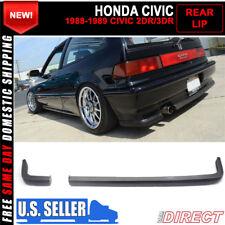 For 88-91 Civic 2Dr 3Dr Hatchback JDM Ikon Lip 2Pc Rear Bumper Lip