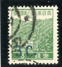 Burma -Japanese Occ 1942 KGVI 3c on 3s green (surch blue) MLH. SG J67c. Sc 2N23a