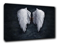 Angel Wings PAINT Print BY BANKSY ON Framed Canvas  Wall Art  Home Decoration