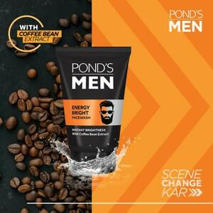 POND'S Men's Energy Bright Face Wash Coffee Beans Bright Skin, 100g x 2