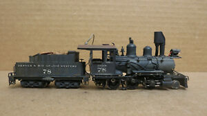 Lambert C&S HOn3 2-6-0 D Painted 78 Project Locomotive As-Is Brass