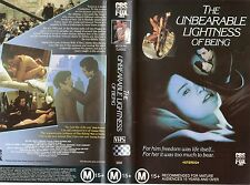 THE UNBEARABLE LIGHTNESS OF BEING-VHS-PAL-NEW-Never played!!-Original Oz releas