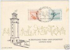 Beleg, III. Deutsches Turn- und Sportfest Leipzig 1959, SSt Leipzig C 1, 10.8.59