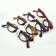Round Plastic Retro Reading Glasses Full Frame Unisex Black Brown Leopard Red