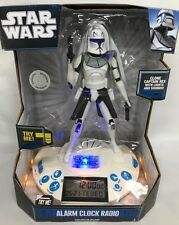 Alarm Clock /Radio Star Wars Clone Wars, Clone Capt. Rex W/Lights & Sounds