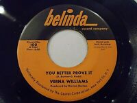 Verna Williams You Better Prove It / Wrong Number Right Girl 45 Vinyl Record