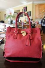 Michael Kors Hamilton Claret Red Leather Large N/S Chain Tote Bag (pu3000