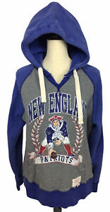 NFL New England Patriots Hooded Sweatshirt Mitchell & Ness Throwbacks Sz L Women