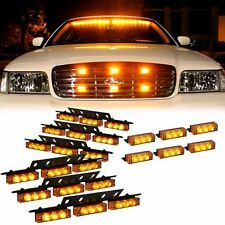 54 + 18 LED Amber Emergency Vehicle Strobe Flash Light Front Rear Grill