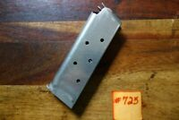 Colt 1911 Magazine 45 Auto 6 round stainless factory Officer Model OEM .45