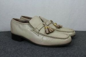 Johnston & Murphy Vintage Leather Slip-On Tassel Loafers Mens 8 C