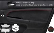 Red Stitch 2X porte avant Carte TRIM couverture en cuir pour Honda Accord MK7 03-07