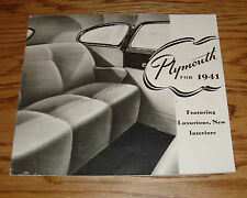 Original 1941 Plymouth Full Line Sales Brochure 41 Coupe Convertible Sedan