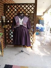 WOMEN'S STEAMPUNK COSTUME, HAND MADE, XL, 1 OF A KIND