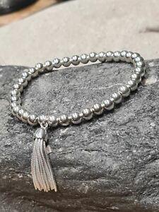 Sterling Silver Large Tassel Bracelet