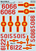 Print Scale 32-014 Decal for Mig-19, Decal for Mig-21 Vietnam war scale 1/32
