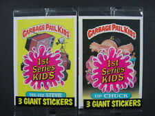 (2) Sealed Topps GARBAGE PAIL KIDS Sticker White Stock Giant 5x7 New (6) total