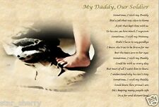 MY DADDY OUR SOLDIER GIFT (Laminated Gift) soldier gift