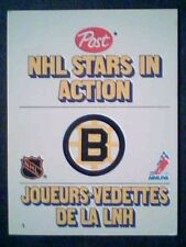 RAY BOURQUE '81-82 POST STANDUP NHL STAR IN ACTION CARD