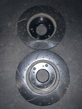 Honda Civic Front Drilled Dimpled Slotted Brake Rotors 2007 2008 2009 2010 2011
