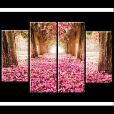 Pink Flowers Tree Floral Canvas Wall Art Pictures Wide XL Prints Gift Her XMAS