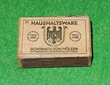 Streichholzschachtel Haushaltsware Nr. 28 WH Wk II Wehrmachtsausrüstung
